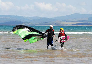 kite surfing school far north