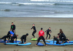 surf lessons northland